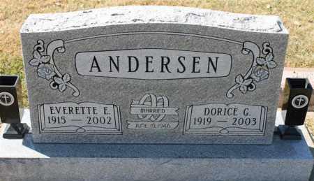 ANDERSEN, EVERETTE EDVIN - Minnehaha County, South Dakota | EVERETTE EDVIN ANDERSEN - South Dakota Gravestone Photos