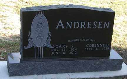 ANDERSEN, CORINNE D. - Minnehaha County, South Dakota | CORINNE D. ANDERSEN - South Dakota Gravestone Photos