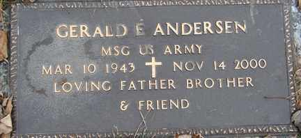 ANDERSEN, GERALD E. (MILITARY) - Minnehaha County, South Dakota | GERALD E. (MILITARY) ANDERSEN - South Dakota Gravestone Photos