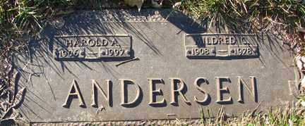 ANDERSEN, MILDRED - Minnehaha County, South Dakota   MILDRED ANDERSEN - South Dakota Gravestone Photos