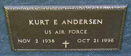 ANDERSEN, KURT E. (MILITARY) - Minnehaha County, South Dakota | KURT E. (MILITARY) ANDERSEN - South Dakota Gravestone Photos