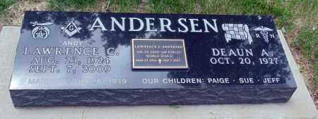 ANDERSEN, LAWRENCE C. - Minnehaha County, South Dakota | LAWRENCE C. ANDERSEN - South Dakota Gravestone Photos