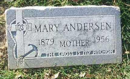 ANDERSEN, MARY - Minnehaha County, South Dakota | MARY ANDERSEN - South Dakota Gravestone Photos