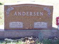 ANDERSEN, OLGA A. - Minnehaha County, South Dakota | OLGA A. ANDERSEN - South Dakota Gravestone Photos