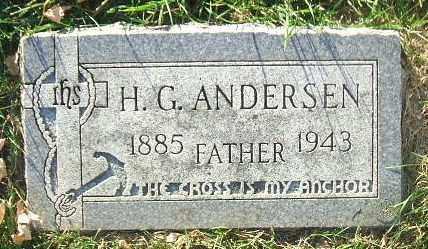 ANDERSEN, H. G. - Minnehaha County, South Dakota   H. G. ANDERSEN - South Dakota Gravestone Photos