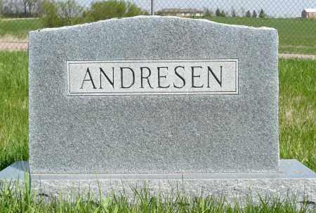 ANDRESEN, FAMILY MARKER - Minnehaha County, South Dakota | FAMILY MARKER ANDRESEN - South Dakota Gravestone Photos