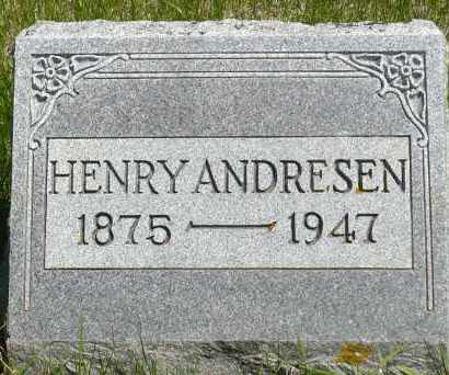 ANDRESEN, HENRY - Minnehaha County, South Dakota | HENRY ANDRESEN - South Dakota Gravestone Photos