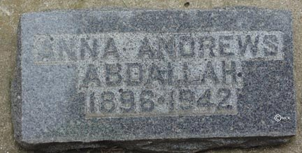 ABDAHLLAH, ANNA - Minnehaha County, South Dakota | ANNA ABDAHLLAH - South Dakota Gravestone Photos