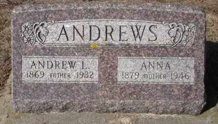 ANDREWS, ANDREW - Minnehaha County, South Dakota | ANDREW ANDREWS - South Dakota Gravestone Photos