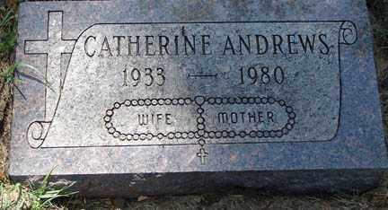 ANDREWS, CATHERINE - Minnehaha County, South Dakota | CATHERINE ANDREWS - South Dakota Gravestone Photos