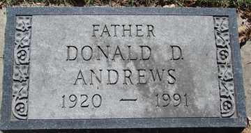 ANDREWS, DONALD  D. - Minnehaha County, South Dakota | DONALD  D. ANDREWS - South Dakota Gravestone Photos