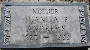ANDREWS, JUANITA  P. - Minnehaha County, South Dakota | JUANITA  P. ANDREWS - South Dakota Gravestone Photos