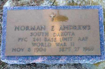 ANDREWS, NORMAN E. - Minnehaha County, South Dakota | NORMAN E. ANDREWS - South Dakota Gravestone Photos