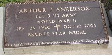 ANKERSON, ARTHUR JAMES - Minnehaha County, South Dakota   ARTHUR JAMES ANKERSON - South Dakota Gravestone Photos