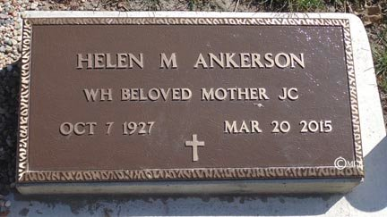 ANKERSON, HELEN M. - Minnehaha County, South Dakota | HELEN M. ANKERSON - South Dakota Gravestone Photos
