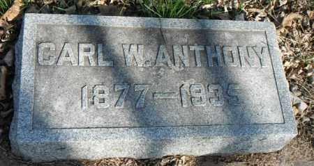 ANTHONY, CARL W. - Minnehaha County, South Dakota   CARL W. ANTHONY - South Dakota Gravestone Photos