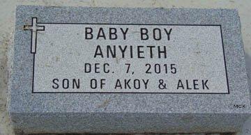 ANYIETH, BABY BOY - Minnehaha County, South Dakota | BABY BOY ANYIETH - South Dakota Gravestone Photos