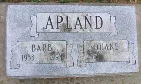 APLAND, DUANE - Minnehaha County, South Dakota | DUANE APLAND - South Dakota Gravestone Photos