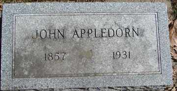 APPLEDORN, JOHN - Minnehaha County, South Dakota | JOHN APPLEDORN - South Dakota Gravestone Photos