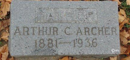 ARCHER, ARTHUR C. - Minnehaha County, South Dakota | ARTHUR C. ARCHER - South Dakota Gravestone Photos