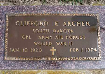 ARCHER, CLIFFORD E. (WWII) - Minnehaha County, South Dakota   CLIFFORD E. (WWII) ARCHER - South Dakota Gravestone Photos