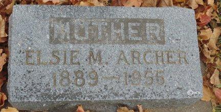 ARCHER, ELSIE M. - Minnehaha County, South Dakota | ELSIE M. ARCHER - South Dakota Gravestone Photos