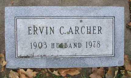 ARCHER, ERVIN C. - Minnehaha County, South Dakota | ERVIN C. ARCHER - South Dakota Gravestone Photos