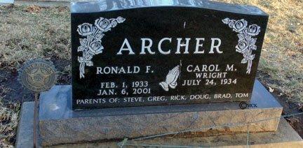 ARCHER, CAROL M. - Minnehaha County, South Dakota | CAROL M. ARCHER - South Dakota Gravestone Photos