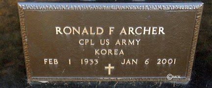 ARCHER, RONALD F. - Minnehaha County, South Dakota | RONALD F. ARCHER - South Dakota Gravestone Photos
