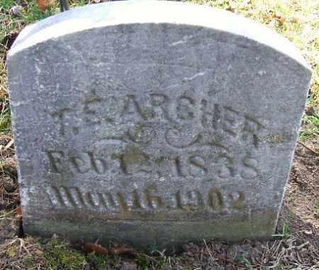 ARCHER, THOMAS E. - Minnehaha County, South Dakota   THOMAS E. ARCHER - South Dakota Gravestone Photos
