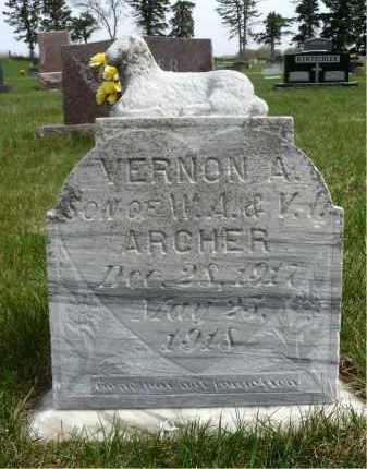 ARCHER, VERNON A. - Minnehaha County, South Dakota | VERNON A. ARCHER - South Dakota Gravestone Photos