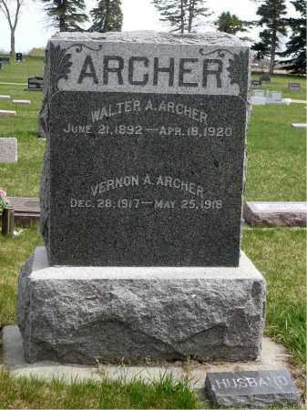 ARCHER, WALTER A. - Minnehaha County, South Dakota   WALTER A. ARCHER - South Dakota Gravestone Photos