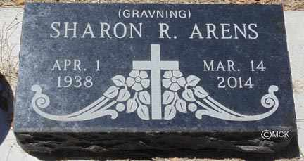 ARENS, SHARON R. - Minnehaha County, South Dakota | SHARON R. ARENS - South Dakota Gravestone Photos