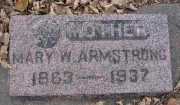 ARMSTRONG, MARY W. - Minnehaha County, South Dakota | MARY W. ARMSTRONG - South Dakota Gravestone Photos