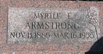 ARMSTRONG, MYRTE E. - Minnehaha County, South Dakota | MYRTE E. ARMSTRONG - South Dakota Gravestone Photos