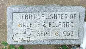 ARNO, INFANT DAUGHTER - Minnehaha County, South Dakota   INFANT DAUGHTER ARNO - South Dakota Gravestone Photos