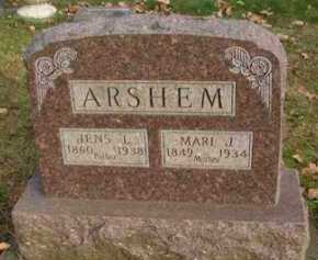 ARSHEM, JENS  L. - Minnehaha County, South Dakota | JENS  L. ARSHEM - South Dakota Gravestone Photos