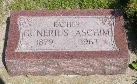 ASCHIM, GUNERIUS - Minnehaha County, South Dakota | GUNERIUS ASCHIM - South Dakota Gravestone Photos