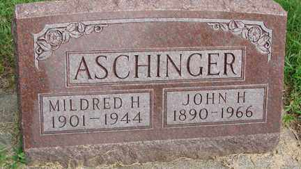 ASCHINGER, MILDRED H. - Minnehaha County, South Dakota | MILDRED H. ASCHINGER - South Dakota Gravestone Photos