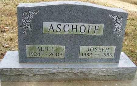 ASCHOFF, ALICE - Minnehaha County, South Dakota | ALICE ASCHOFF - South Dakota Gravestone Photos