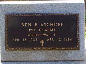 ASCHOFF, BEN B. - Minnehaha County, South Dakota | BEN B. ASCHOFF - South Dakota Gravestone Photos