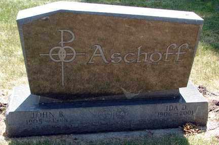 ASCHOFF, JOHN B. - Minnehaha County, South Dakota | JOHN B. ASCHOFF - South Dakota Gravestone Photos