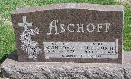 ASCHOFF, THEODOR H. - Minnehaha County, South Dakota | THEODOR H. ASCHOFF - South Dakota Gravestone Photos