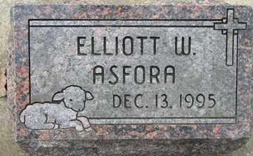 ASFORA, ELLIOTT W. - Minnehaha County, South Dakota | ELLIOTT W. ASFORA - South Dakota Gravestone Photos
