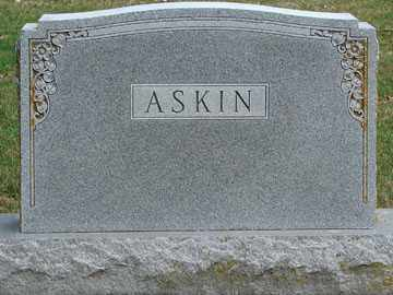 ASKIN, FAMILY MARKER - Minnehaha County, South Dakota | FAMILY MARKER ASKIN - South Dakota Gravestone Photos