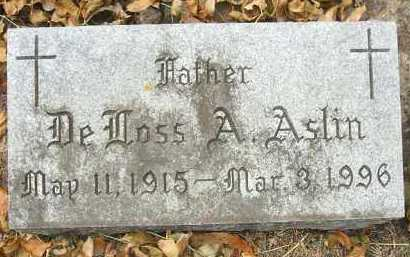 ASLIN, DE ROSS A. - Minnehaha County, South Dakota | DE ROSS A. ASLIN - South Dakota Gravestone Photos