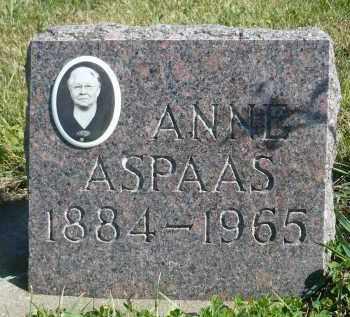 ASPAAS, ANNE G. - Minnehaha County, South Dakota | ANNE G. ASPAAS - South Dakota Gravestone Photos