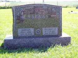 ASPAAS, BERTHA - Minnehaha County, South Dakota   BERTHA ASPAAS - South Dakota Gravestone Photos