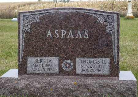 ASPAAS, BERTHA - Minnehaha County, South Dakota | BERTHA ASPAAS - South Dakota Gravestone Photos