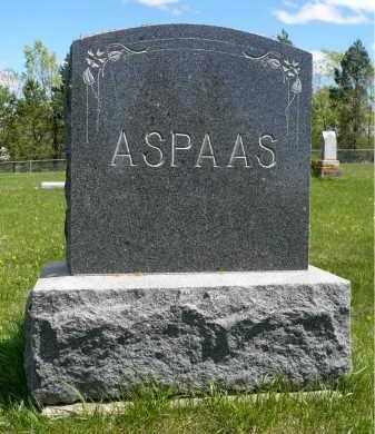 ASPAAS, FAMILY STONE - Minnehaha County, South Dakota | FAMILY STONE ASPAAS - South Dakota Gravestone Photos
